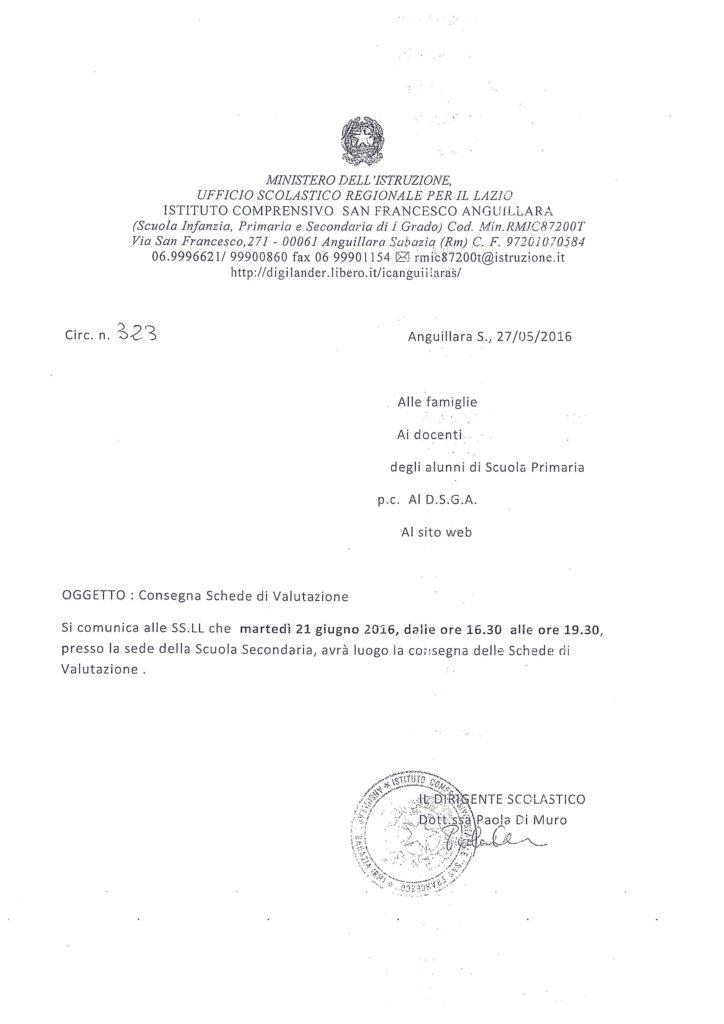 323 - consegnaschedevalutazioneprimaria2015.16