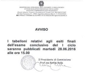 PUBBLIC._TABELL._ESITO_ESAME_CONCL. PRIMO_CICLO